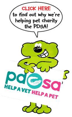 Roobarb and Custard support the PDSA pet health charity