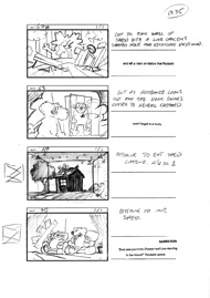 Storyboard for the cult British animation