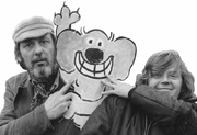 Roobarb and Custard creators; animator Bob Godfrey and writer Grange Calveley
